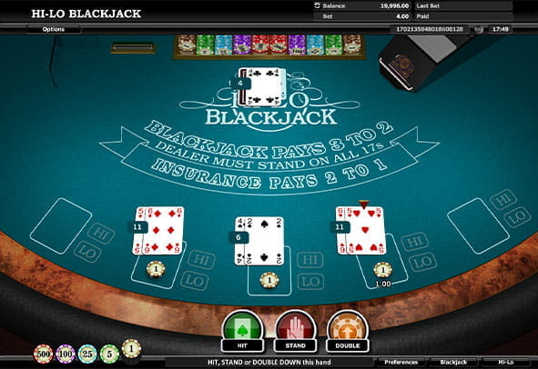 Online Blackjack For Cash