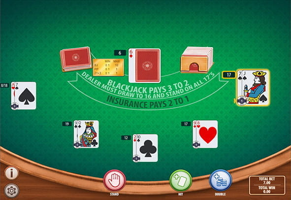 Low Stakes Blackjack free demo gameplay.