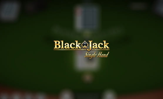 Blackjack Single Hand game logo.