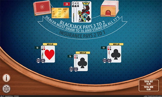 Low Stakes Blackjack game by Section 8 Studio.
