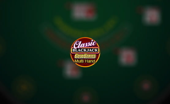 Multi-Hand Classic Blackjack Gold game logo.
