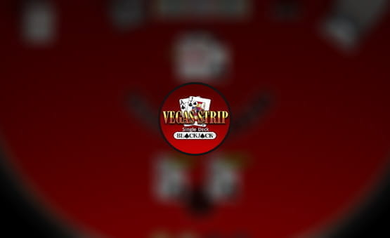 Vegas Strip Single Deck Blackjack game logo.