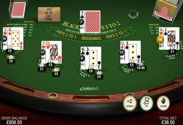 The Premium Blackjack game by Playtech.