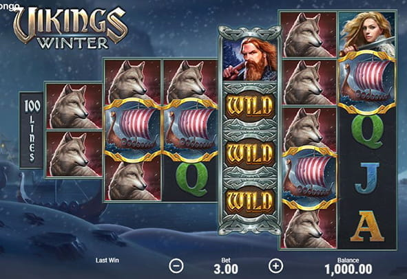 The Vikings Winter slot in play.