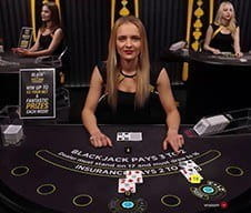 Image of a live dealer at bwin casino.