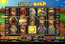 The California Gold slot game at Intertops online casino.