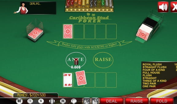 The casino poker game Caribbean Stud.