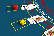 A casino blackjack game.