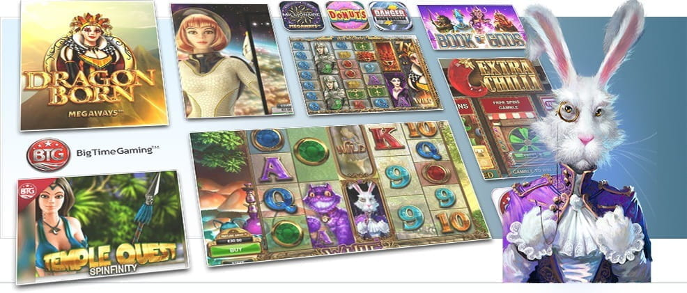 Image showing Big Time Gaming's various slot games