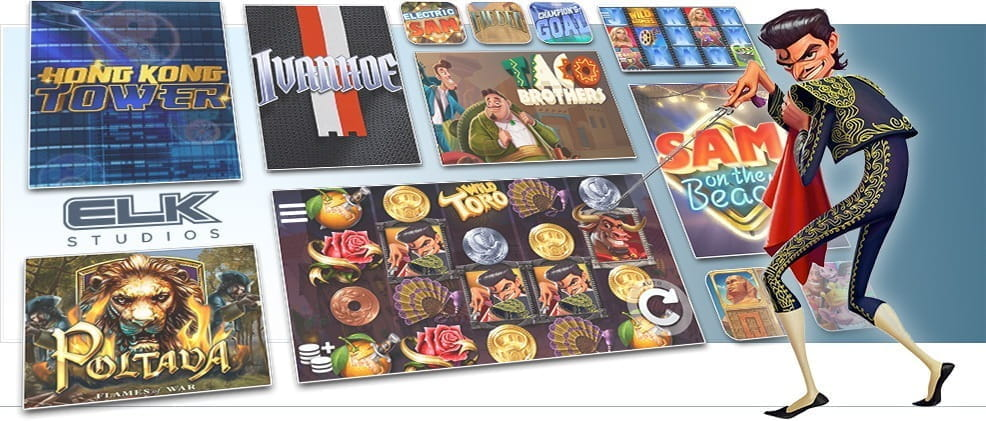 Image showing ELK Studios's various card and table games