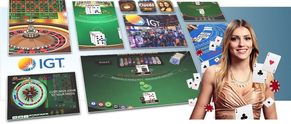 Image showing IGT's various card and table games