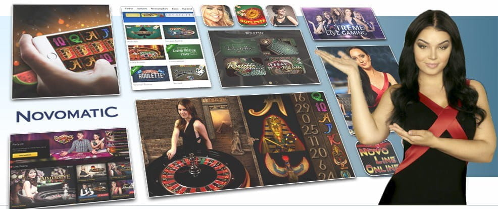 Image showing Novomatic's various card and table games