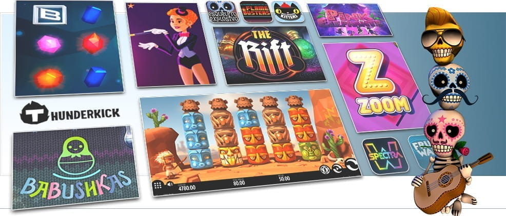 Image showing Thunderkick's various slot games