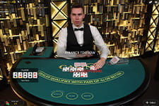 Play a live version of Hold'em at Mega Casino