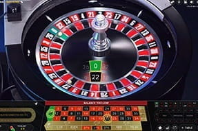 A game of Double Ball Roulette live at Casino Room.