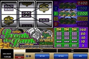 The Break Da Bank slot on a mobile device.