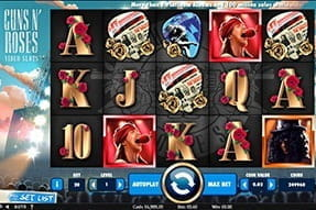 The Guns N' Roses slot - the mobile version.