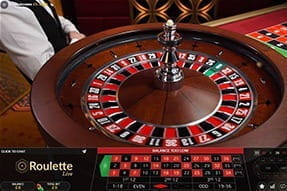 A French Roulette live croupier table.