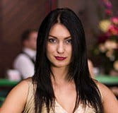 Silvia, a live dealer at Casino Cruise.