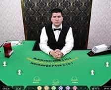 A screenshot of a live blackjack game