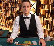 Image of a live dealer at ComeOn! Casino