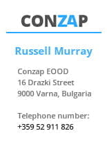 Conzap Company Logo and Contact Details