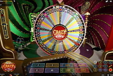 The Crazy Time live casino game at Lucky Days