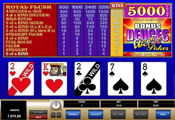 Preview image of the game Deuces Wild Poker.