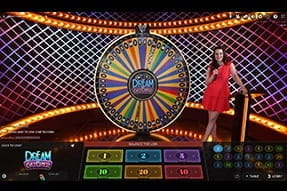 Money wheel game Dream Catcher by Evolution Gaming at ComeOn! Casino