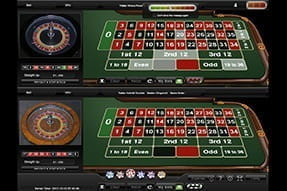 Dual Roulette from Playtech - play 2 video roulette tables at once.