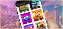 Slot games on an iphone and the Dunder logo