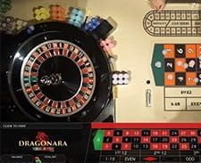 Live roulette being played at the Dragonara casino.