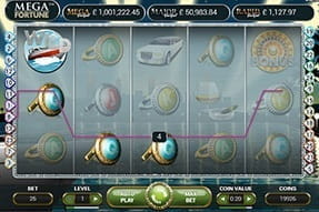 The Mega Fortune slot on mobile at Dunder casino.