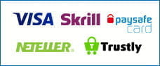 Payment options available at Dunder mobile including:Visa, sKrill, Neteller, paysafecard and Trustly.