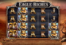 Eagle Riches in game play view