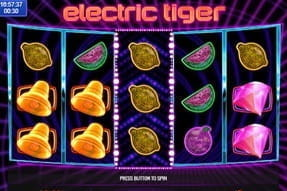 Image of Electric Tiger slot on a mobile device.