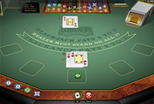 European Blackjack Gold in-game play view