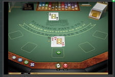 European Blackjack in-game play