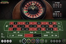 European Roulette in-game view
