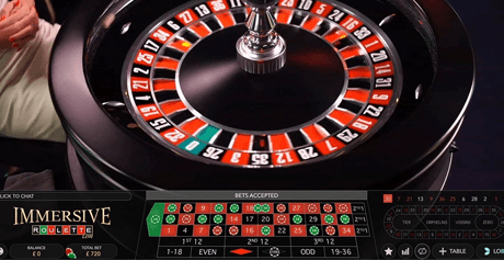 Immersive Roulette by Evolution Gaming.