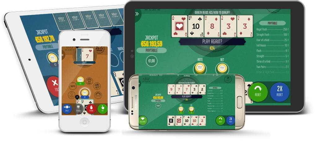 FELT casino games being shown on tablet and mobile devices.