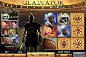 The Gladiator scratch card at Casino.com.
