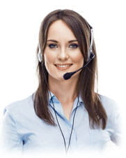 A customer services operative at a Gluck online casino.