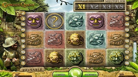 Gonzo's Quest slot game, with the innovative Avalanche feature