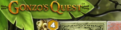 The Gonzo's Quest slot logo as seen on a desktop computer.