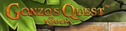 The Gonzo's Quest slot logo as seen on mobile.