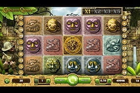 An in-game view of the Gonzo's Quest slot from NetEnt.