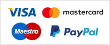 Payment options available at Grosvenor mobile, including Visa, Mastercard, Maestro and PayPal.