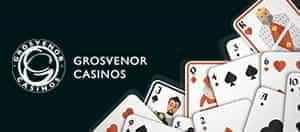 Das Grosvenor-Logo und die Spielkarten.