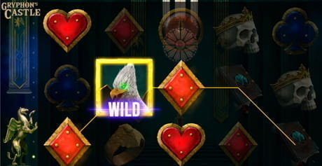The Wild feature active in the Gryphon's Castle slot game from Mascot Gaming